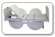Easy moveable Hospital Bed with folding facilities which is a beneficial to transfer, nursing, medical care of patients