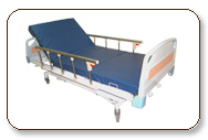 Hospital Metal Bed with electrical adjustable facilities while asleep for better recovery of patients.