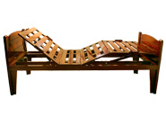 Motorizeds Wooden Backrest and Legrest Position beds